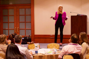 Carol Buehrens teaches at both the university level and corporate training sessions.